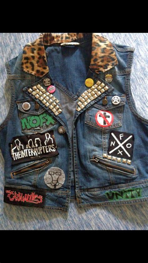 custom punk battle vest etsy punk jackets diy jacket