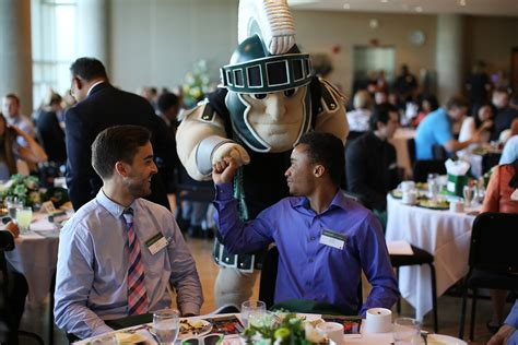 Msu Part Time Mba by Broad Celebrates Scholarship Donors And Students Eli