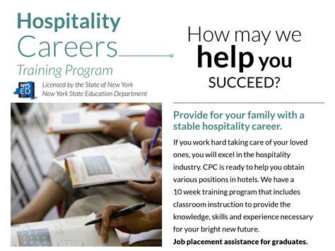 hospitality careers training program chinese american