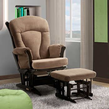 madison glider and ottoman dutailier 174 ultramotion madison taupe multiposition lock