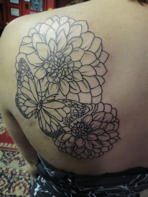 dahlia tattoos dahlias flower ideas