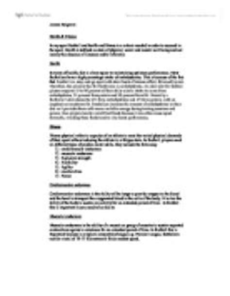 Health And Fitness Essay by Health Fitness Essay A Level Physical Education Sport Coaching Marked By Teachers