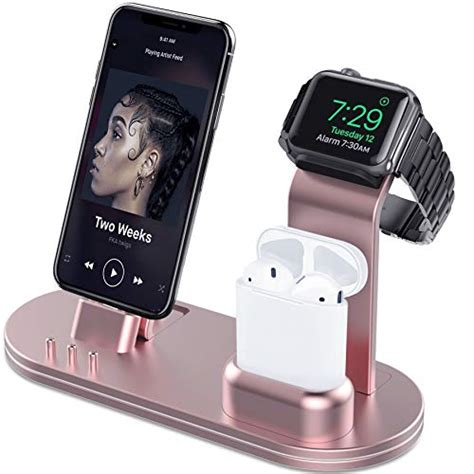 olebr charging stand for apple 4 stand for airpods charging docks for apple series 4