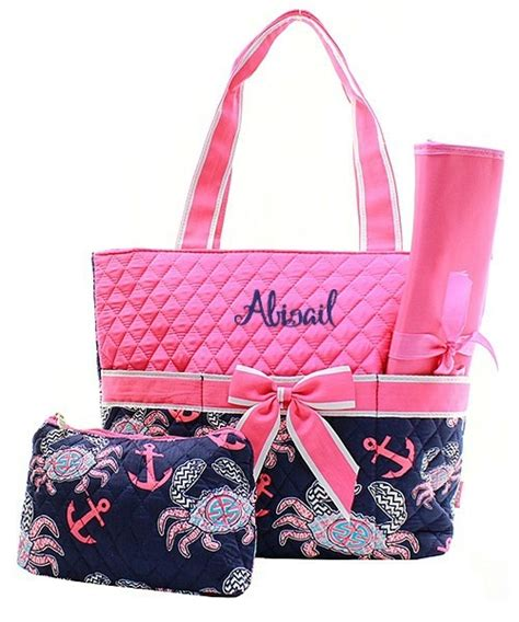 personalized monogram quilted diaper bag changing pad