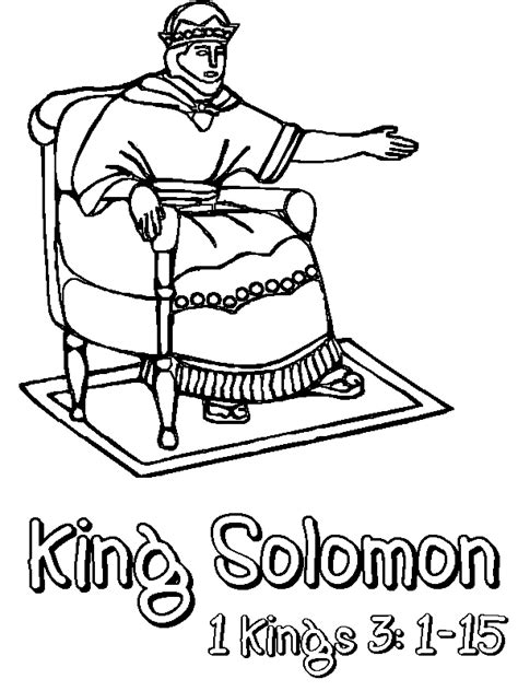coloring pages king solomon king solomon coloring page