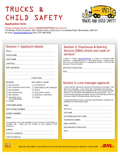 Davita Application Free Printable Dhl Application Form
