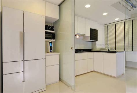 Sliding Door Design For Kitchen Beautifully Done Kitchen By Atliving For A Hdb In Singapore It How The And Kitchen