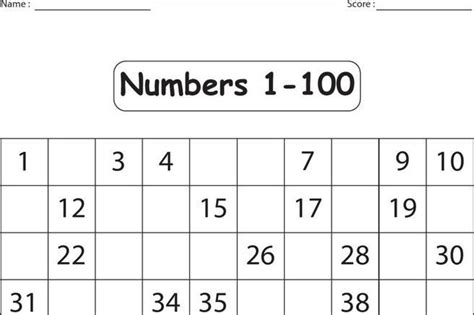 sle missing numbers worksheet templates download free