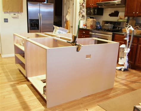 install kitchen island how to install island cabinets memsaheb net