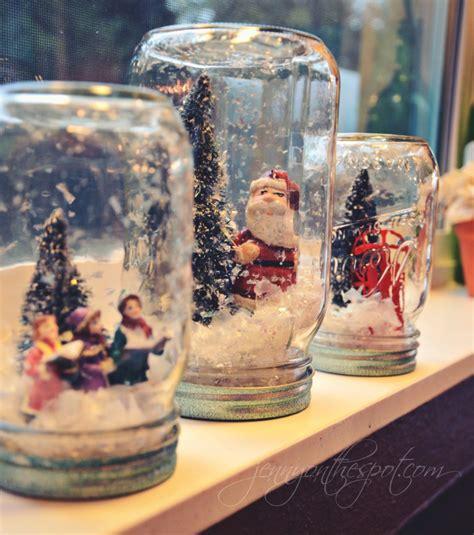 Handmade Snow Globe - craft in a jar no water snow globe on the spot