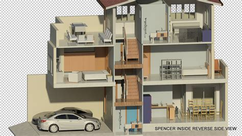 Home Design From The Inside Out by As Built 3d Model Rendering Of Spencer Project 22 10 2010