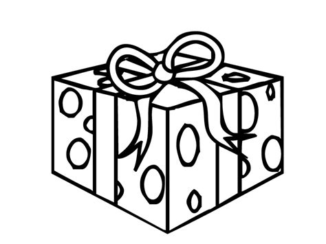 printable gift coloring page present coloring pages