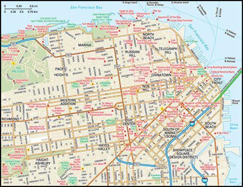 san francisco map interactive san francisco map guide to san francisco california