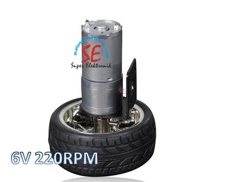 Motor Gearbox Motor Dc Untuk Mainan Robot Dll motor dc robot dilengkapi roda 6v gearbox motor 220rpm otomatis malang electronic