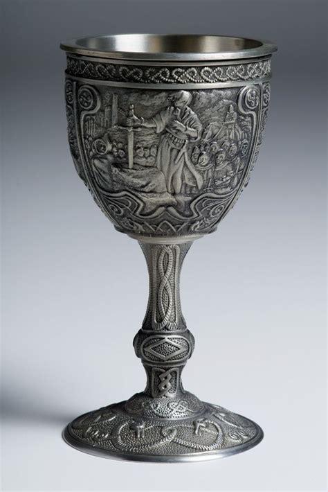 wine goblets franklin mint excalibur pewter goblets king arthur goblet