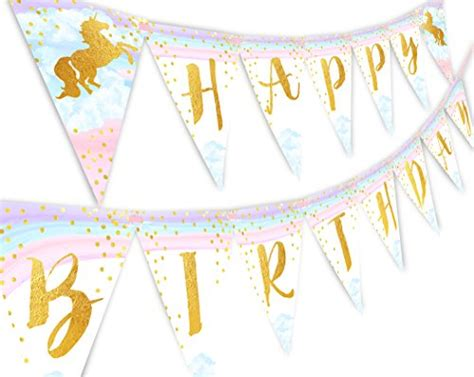 24 Birthday Magical Banner magical unicorn rainbow happy birthday banner pennant