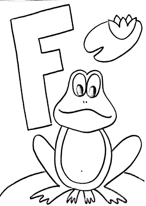 frog coloring page for preschool frog craft template coloring home