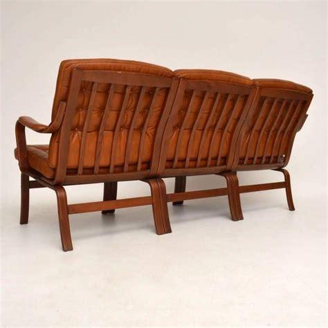 retro danish sofa danish retro leather bentwood sofa vintage 1970s at 1stdibs