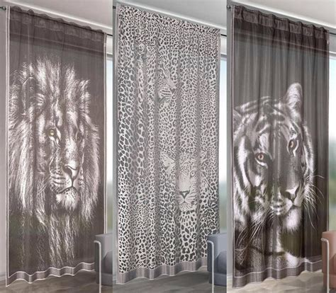 animal pattern net curtains details about animal print voile net curtain door panel