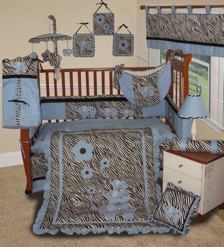 Custom Baby Boy Boutique Blue Zebra 15 Pc Baby Bedding Zebra Crib Bedding Set