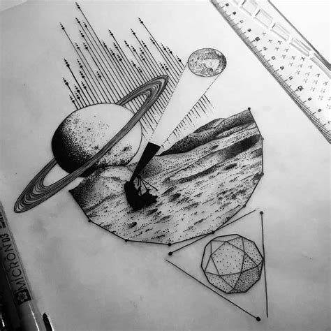 tattoo sketch pen a tattoo design about space exploration space tattoo