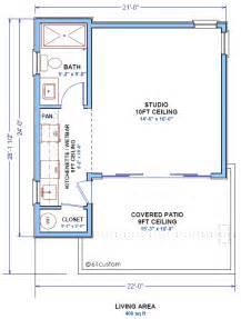 Small Guest House Floor Plans by Small Guest House Plan Backyard Studio Houseplan