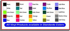 basic color chart vinyl products