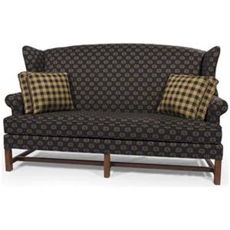 star homespun high wing back settee with rolled arms star homespun high back sofa with rolled arms saugerties