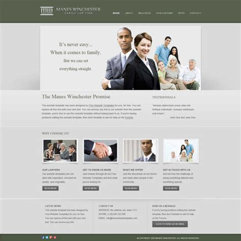 Law Firm Website Template Free Website Templates Free Department Website Templates
