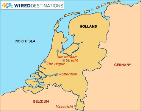 netherlands surrounding countries map map of and surrounding countries