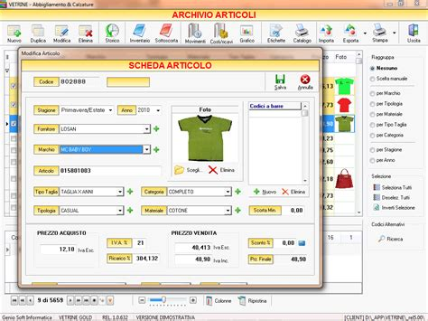 software layout buku gratis software gestionale negozio vetrine