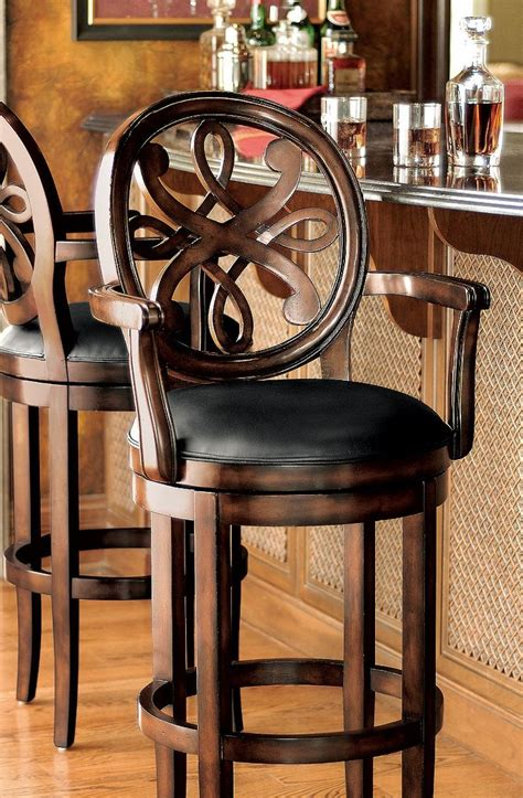 Traditional Bar Stools With Arms by 25 Best Ideas About Swivel Bar Stools On