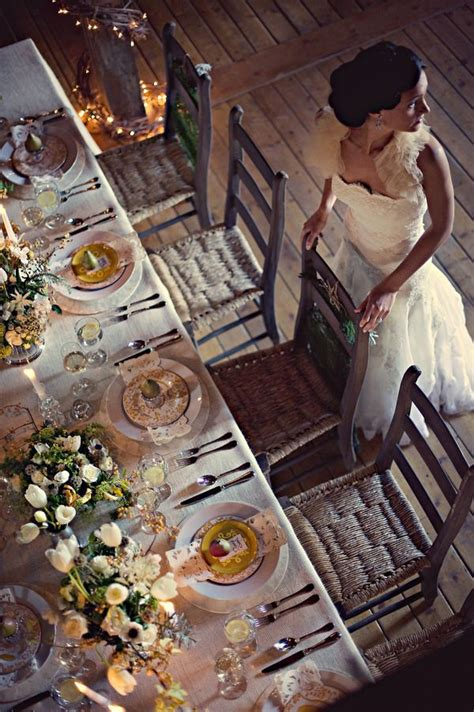picture  beautiful barn wedding table settings