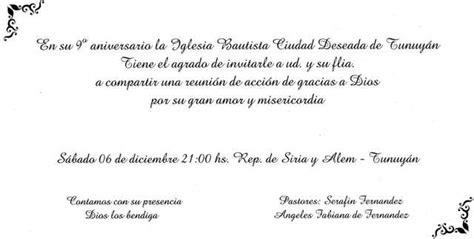 invitacion para aniversario de iglesia modelo de invitaci 243 n de aniversario de iglesia cristiana