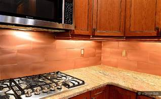 copper color large subway backsplash backsplash