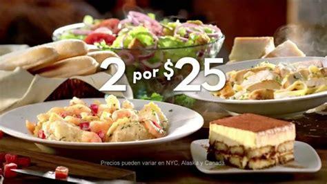olive garden 2 for 25 tv commercial platos favoritos ispot tv