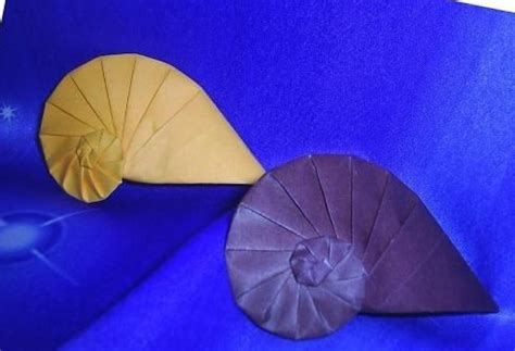 Origami Conch Shell - 17 best images about origami on sea shells