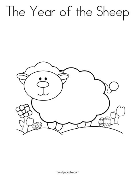 coloring pages for year of the sheep the year of the sheep coloring page twisty noodle
