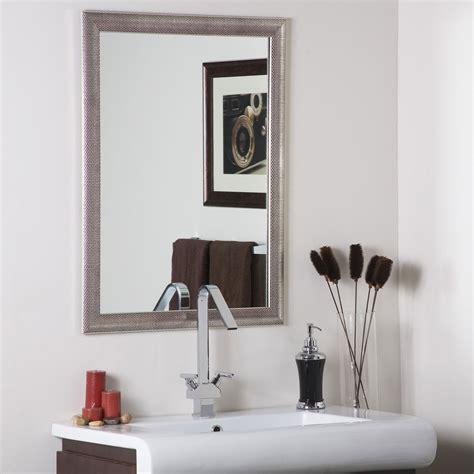distressed bathroom mirror modern silvertone distressed framed wall mirror by decor