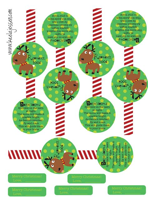 7 best images of round printable food labels christmas 7 best images of reindeer food printable labels