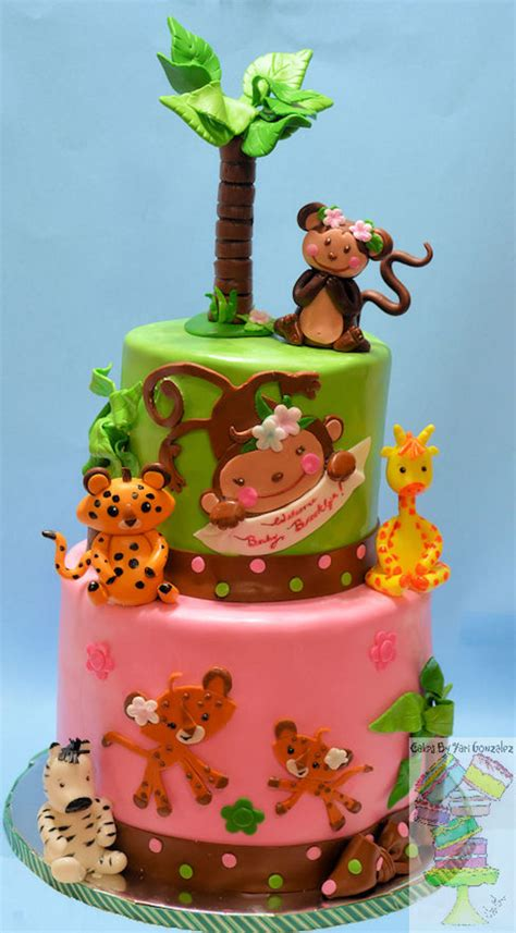 Jungle Theme Baby Shower Cakes by Jungle Theme For Baby Shower Cake Cakecentral