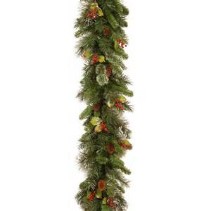 9ft wintry pine artificial christmas garland hayes