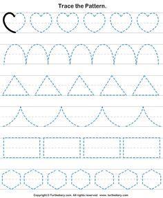 pattern drafting worksheet handwriting practice mats shapes worksheets printable