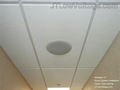 how to install in ceiling speakers electrician cabling contractor in norwalk connecticut