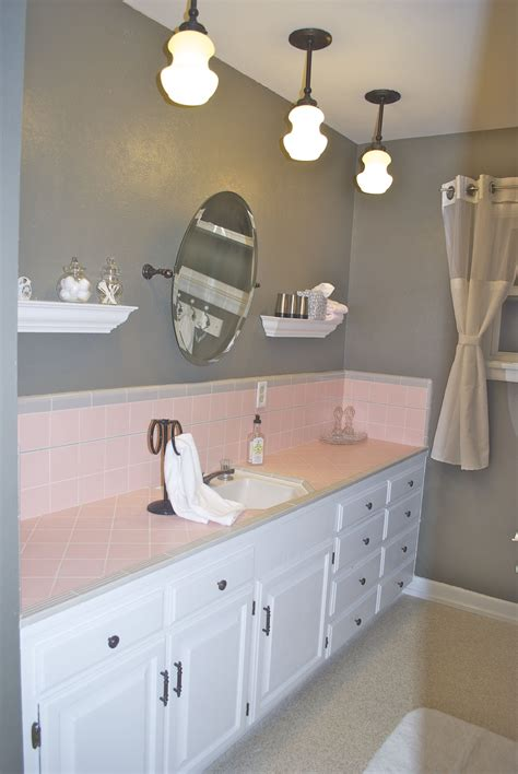 pink tile bathroom ideas bathroom pink tile bathroom pinterest grey walls remodel