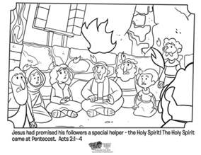 pentecost color pentecost coloring page whats in the bible
