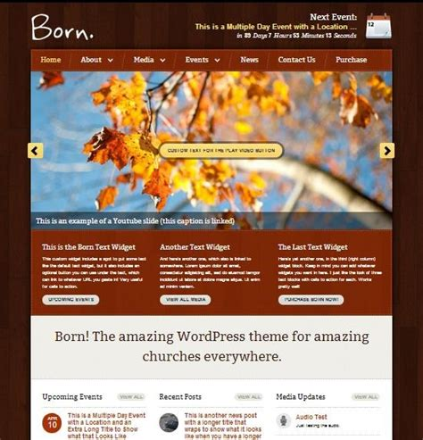 25 top church website templates for religious websites