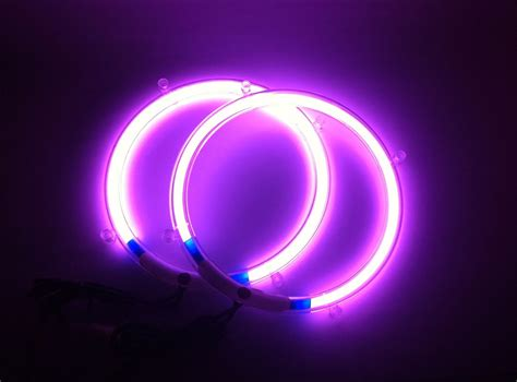 purple neon speaker rings glow subwoofer