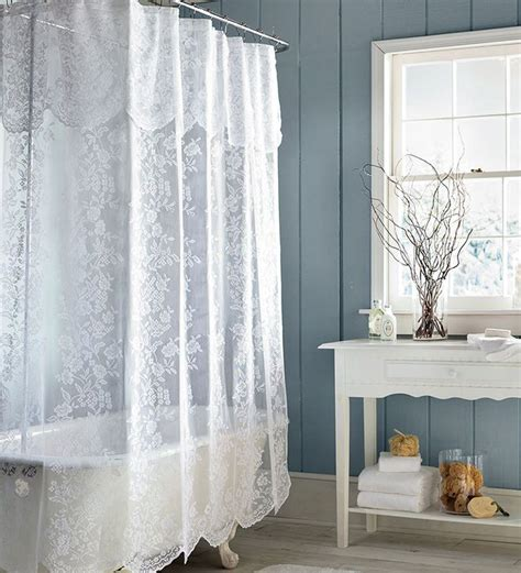 sheer shower curtains 1000 ideas about white lace curtains on pinterest lace