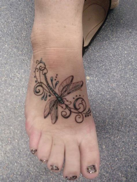 small girly foot tattoos dragonfly tattoos designs ideas and meaning tattoos for you